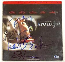 APOLLO 13 Cast Signed LaserDisc Cover ~ Beckett BAS COA ~ Sinise HANKS Bacon +4
