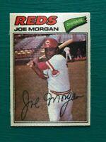 1977 Topps Cloth Sticker JOE MORGAN Reds Baseball Card #31 SET BREAK NM-MT
