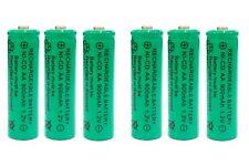 6 x AA 900mAh Ni-Cd Ni-Cad 1.2V Rechargeable Batteries