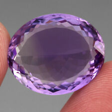 VVS 22.01 Ct. 21x18mm Oval Cut 100% Natural Top Rich Purple Amethyst Unheated Nr