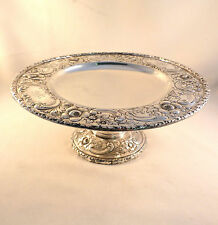 "Exquisite Repoussed Sterling-Reed & Barton Compote-9"" Diameter"