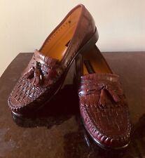 GIORGIO BRUTINI Le Glove Tassel Loafers - Mens US 7 W Wide Burgandy