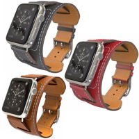 Bracelet Cuir de montre pour Apple Watch Wristband 42mm 44mm