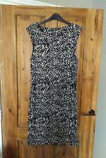 Oasis Mocha remolino imprime Wiggle Dress Talla L 14/16