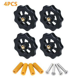 4PCS Upgraded Aluminum Hand Twist Leveling Nut with Hot Bed Springs For Ender 3