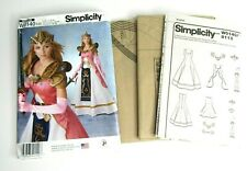 Simplicity Princess Cosplay Pattern W0140/8113 Size 6-14 Uncut Craft Foam Armor