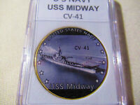US NAVY - USS MIDWAY CV-41 Challenge Coin