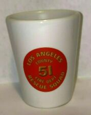 Cool Ceramic La County Station 51 fire fighter emergency Rescue Squad Shot glass