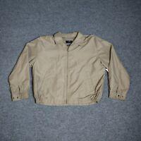 T. Harris Casual Vintage Classic Jacket Men's Large Beige/Tan