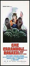 CHE CARAMBOLE... RAGAZZI!!!... LOCANDINA CINEMA FILM 1976 MONEY PLAYBILL POSTER