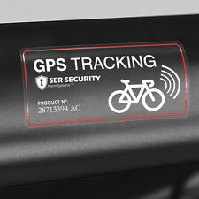 2x SECURITY STICKER - Bike GPS Tracking Device Warning Bicycle Smart Heavy Lock