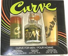 Liz Claiborne Curve Gift Set, 3 Pc Men's With 2.5oz Cologne Spray New in Box.