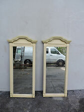 French Painted Pair of Wall Bathroom Vanity Mirrors 6199