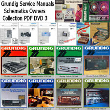 Grundig Service Manuals Brochures Schematic Owners Super Collection PDF DVD 3 !!
