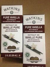 Watkins Pure Real Vanilla Extract   2x 2 fl. oz