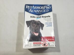 Pet Armor Pro Advanced Large 45 - 88.9 lbs Repels ticks fleas mosquitoes lice
