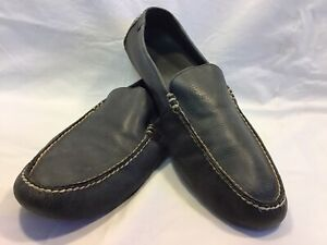 Mens Polo, Ralph Lauren, Terence Driving Moccasins Navy Blue Loafers Size 11 D