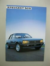 Peugeot 505 prestige brochure Prospekt Dutch text 24 pages 1984