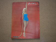 MARILYN MONROE  ON COVER 1954 FOLLIE! ITALIAN MAGAZINE IN COPERTINA RIVISTA