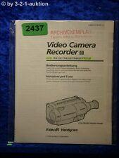 Sony Bedienungsanleitung CCD TR410E /TR420E /TR440E /TR510E Video (#2437)