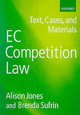 EC COMPETITION LAW: TEXT, CASES, AND MATERIALS., Jones, Alison & Brenda Sufrin.,
