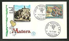 ITALIA BUSTA FILAGRANO TURISTICA 1981 MATERA ANNULLO RAVENNA  FDC