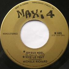 MICHELE RICHARD Joyeux Noel MAXI 4 60s RARE FRENCH POP Canada QUEBEC 45
