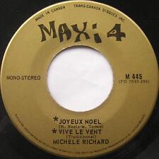 *MICHELE RICHARD Joyeux Noel MAXI 4 60s RARE FRENCH POP Canada QUEBEC 45