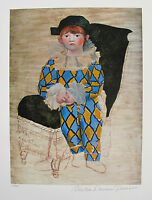 Pablo Picasso PAUL AS A HARLEQUIN Estate Signed & Numbered Small Giclee
