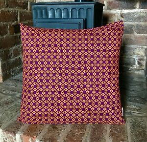 137. VB Safari Sunset Reverse Orange 100% Cotton Cushion Cover.Various sizes