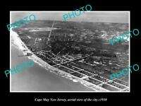 OLD LARGE HISTORIC PHOTO OF CAPE MAY NEW JERSEY AERIAL VIEW OF THE CITY c1930 3