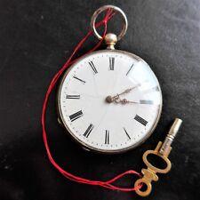 Men's Pocket Watch, Cylinder Obstruction, Schlüssel-aufzug, Good Function,