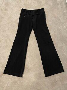 MISS SELFRIDGE Ladies Size 10 Black Straight Flared Smart Trousers Work School