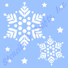 SNOWFLAKES STENCIL CHRISTMAS SNOWFLAKE STENCILS TEMPLATE TEMPLATES CRAFT #2 NEW