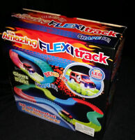 165pc Kids Children Flexible Glow In The Dark Car Race Track Set LED Light