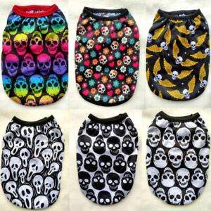 Yorkie Cute Skull Dog Clothes Pet Puppy Hooded Dog Cat Apparel Colors XXS-5XL