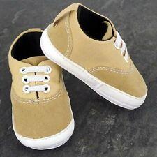 Pram Shoes , Newborn Baby Boy Infant Tan Shoes Toddler PreWalker Trainers 0-12