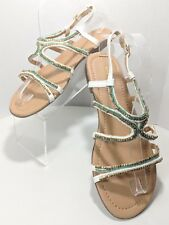 Maurices Women's Size 10m Multi-Colored Slingback Sandals (tu11)