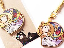 Golden Acrylic  strap charm: SailorMoon, Usagi Anime / cell-phone