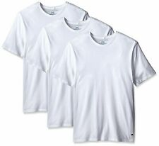 $75 Tommy Hilfiger Mens White Crew Neck Classic Tee Top Undershirt 3 Pack Size S