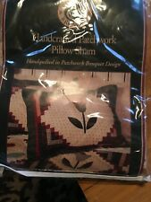 Pillow Sham Handcrafted Patchwork 21x27 Cotton Hand Pieced Quilted