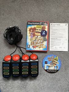 PS2 Playstation 2 Buzz The Music Quiz Game And Original Buzzers