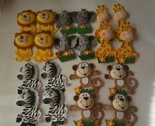 20pcs Baby Shower Safari/jungle Animals Decoration Girl/Boy