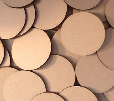 5x 70mm Round MDF Wood Bases Laser Cut Crafts Wargames Miniatures FAST SHIPPING