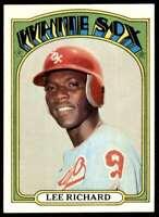 1972 Topps Lee Richard Chicago White Sox #476