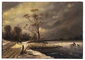A Dutch Master Landscape Painting Signed JC-Jan Jacob Coenraad Spohler 1837?