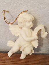 Vintage 1995 Roman Inc Ceramic Angel Figurine with Scroll