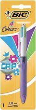 BIC 4 Colores Moda Grip Bolígrafo-Paquete de Blister De 1