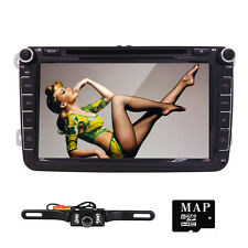 "8"" Car Stereo CD DVD Player Camera GPS Navigation Radio BT USB for VW Volkswagen"