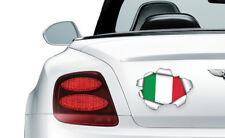 Cool Rasgada/rasgado efecto de Metal Italia Bandera-Vinilo Pared, Coche, Decal Sticker